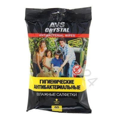 """Влажные салфетки """"Антибактериальные"""" 60 шт AVS AVK-208"""