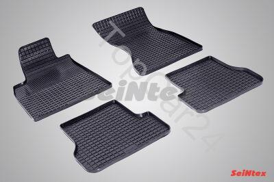 """Резиновые коврики в салон AUDI A7 (4G) """"Сетка"""""""