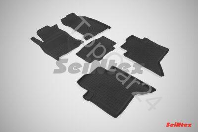 Резиновые коврики с высоким бортом для Toyota Hilux VIII