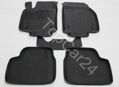 Резиновые коврики с бортиками для Opel Astra H