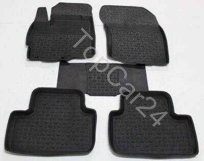 Резиновые коврики с бортиками в салон Citroen C4 Aircross