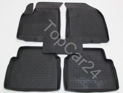 Ковры резиновые с бортиками Chevrolet Aveo (Шевроле Авео) Sd/Hb