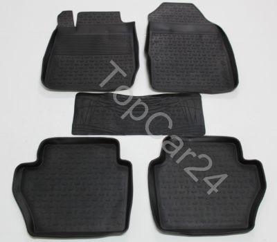 Резиновые коврики с бортиками Seintex для Ford Fiesta 4 (Форд Фиеста 4)