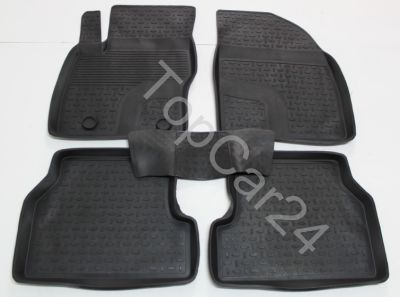 Резиновые ковры с бортиками для Ford Focus II (Форд Фокус 2)