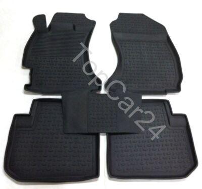 Резиновые ковры с бортами в салон Subaru Forester 4