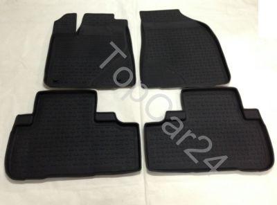 Салонные резиновые коврики Toyota Highlander 3 (Тойота Хайлендер)