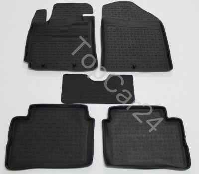 Автоковрики резиновые с бортиками Kia Picanto 2