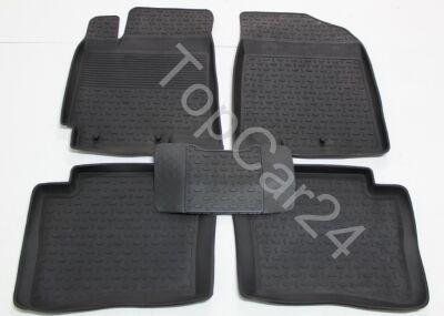 Резиновые коврики с бортиками Hyundai Solaris