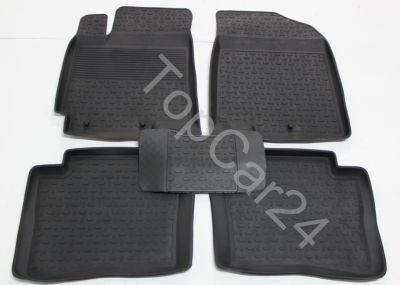 Резиновые коврики с бортиками для KIA RIO IV (КИА РИО 4)
