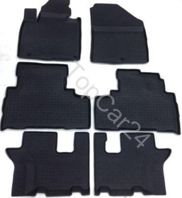 Резиновые коврики Hyundai Santa Fe IV 2018-